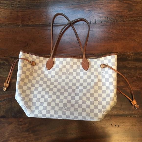 92620c15662f Louis Vuitton Handbags - Pre-Loved Louis Vuitton Neverfull MM Azur